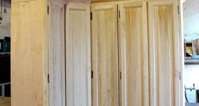 armadio angolare grezzo